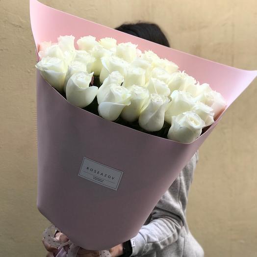 Букет 33 Белые розы