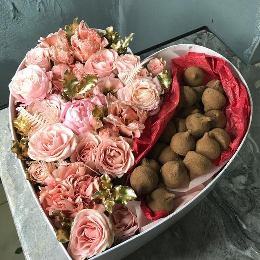 Цветы,шоколад ️