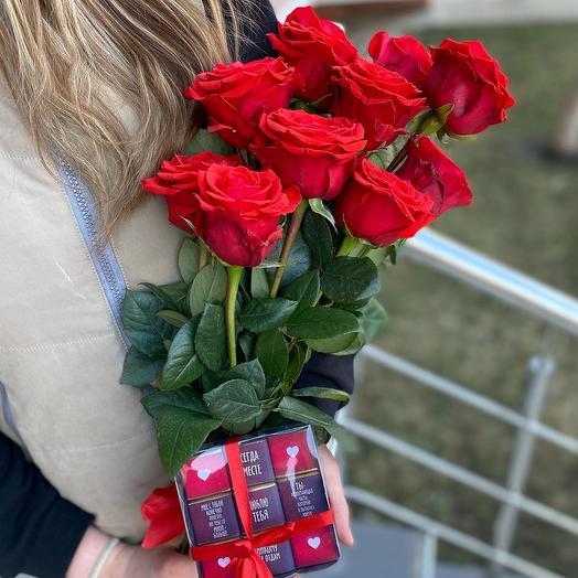 Розы + конфеты ️