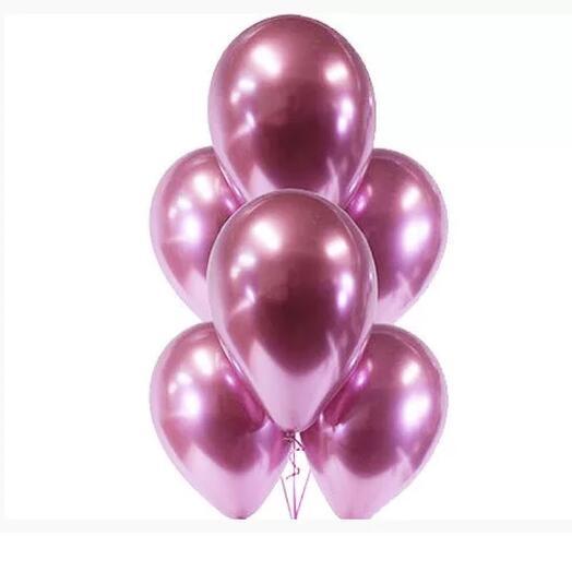 Flowers Lovers - шар хром розовой с гелием