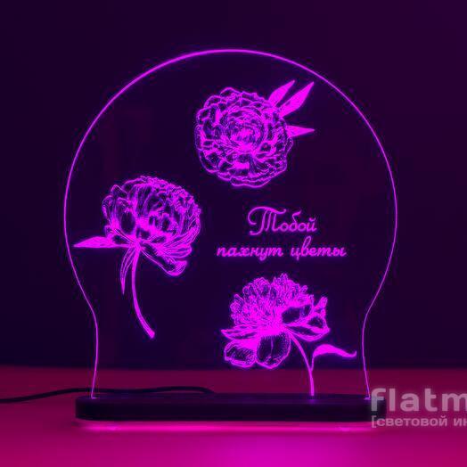 Лампа-ночник Аромат пионов