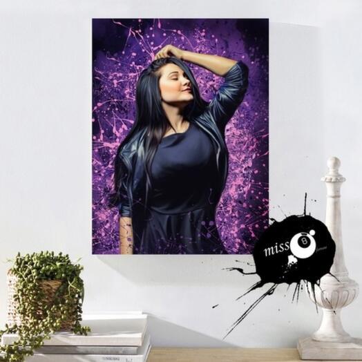 50*70 см портрет в стиле Дрим Арт. Картина на натуральном холсте