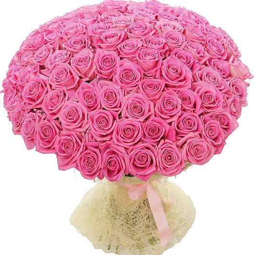 101 розовая роза (70 см) (S4029)
