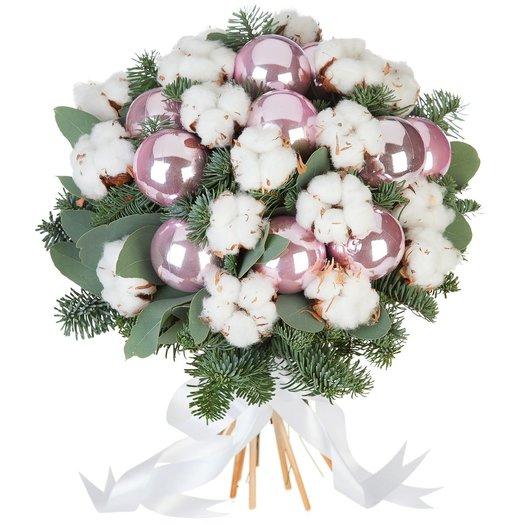 Новогодний букет Зимние сумерки: букеты цветов на заказ Flowwow