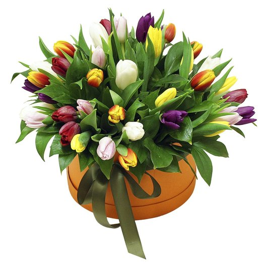 "Коробочка с тюльпанами ""Изабель"""