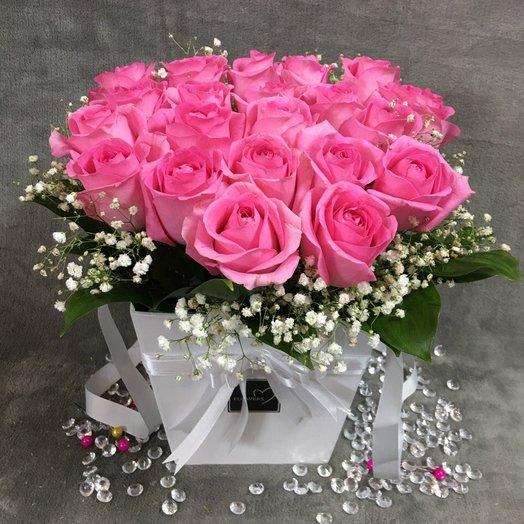 """Коробка """" Тиффани"""": букеты цветов на заказ Flowwow"""