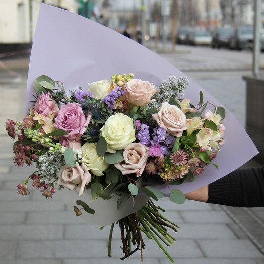 Нежный букет в сиреневых тонах: букеты цветов на заказ Flowwow