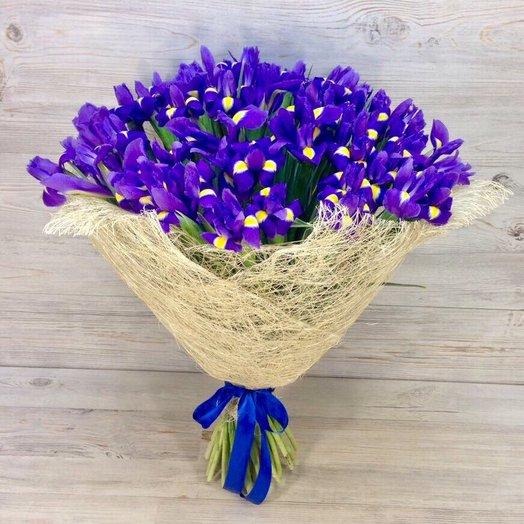 Ирисы. Монобукеты. N65: букеты цветов на заказ Flowwow