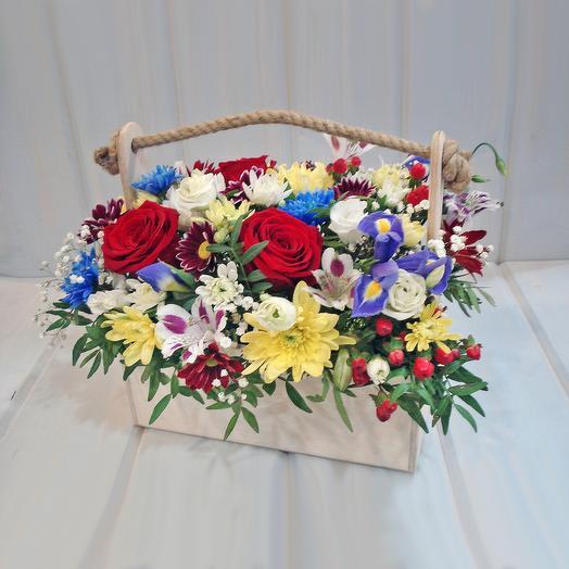 Микс в ящичке 2: букеты цветов на заказ Flowwow