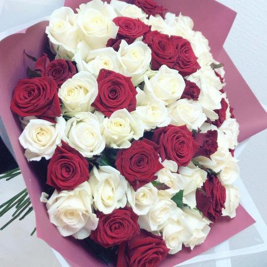 Дуэт 55: букеты цветов на заказ Flowwow
