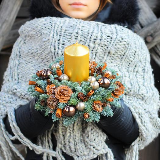 Новогодняя композиция 14: букеты цветов на заказ Flowwow