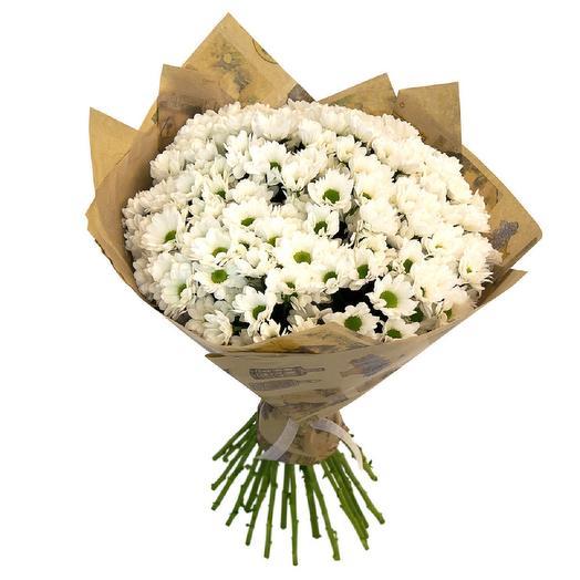 Хризантема белая в крафте: букеты цветов на заказ Flowwow