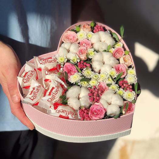 Heart 4 Большое: букеты цветов на заказ Flowwow