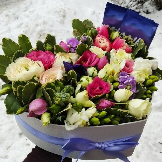 Шоколадно-цветочное наслаждение: букеты цветов на заказ Flowwow