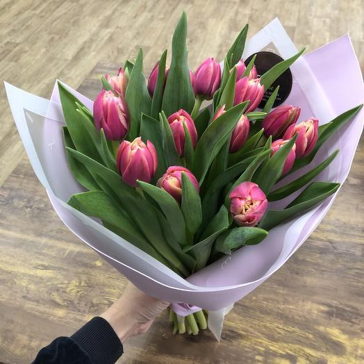 15 тюльпан: букеты цветов на заказ Flowwow