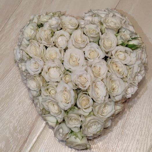 3 D сердце ♥️: букеты цветов на заказ Flowwow