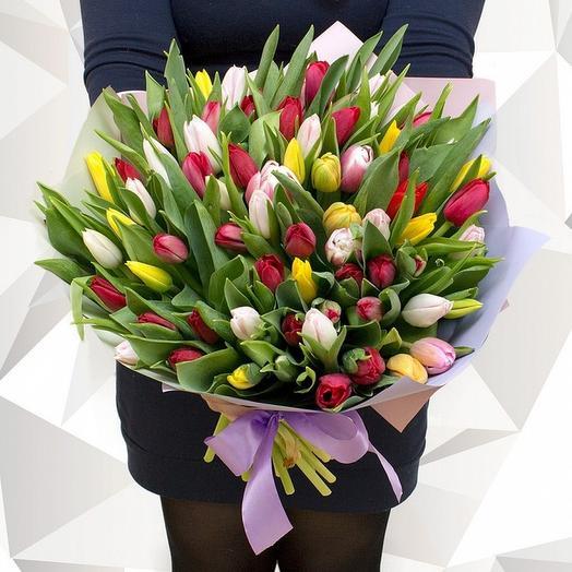 95 тюльпанов МИКС