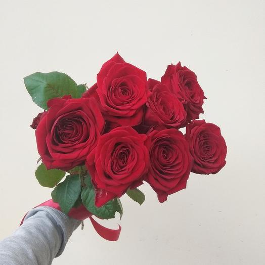 Розы Ред Наоми 7 шт: букеты цветов на заказ Flowwow