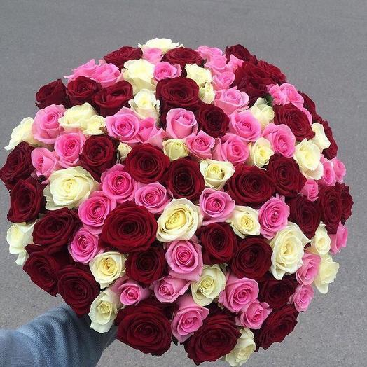 101 роза. Букет 85: букеты цветов на заказ Flowwow