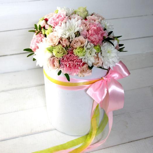 Нежность в коробке: букеты цветов на заказ Flowwow