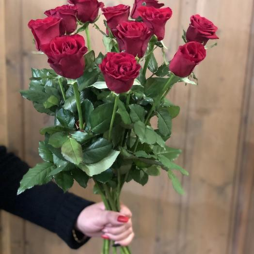 """Букет роз для Мамы """"11 бордовых розочек"""""""
