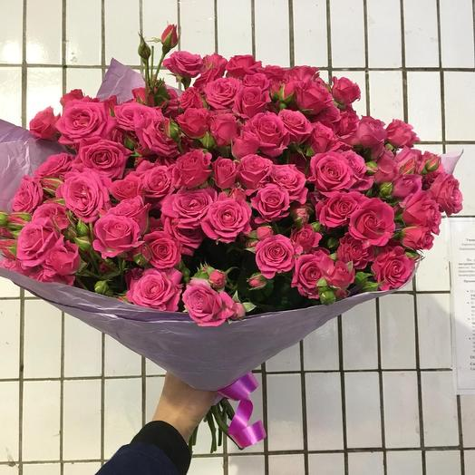 Малиновые кустовые: букеты цветов на заказ Flowwow