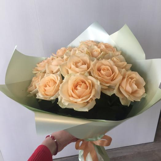 Букет кремовых роз: букеты цветов на заказ Flowwow