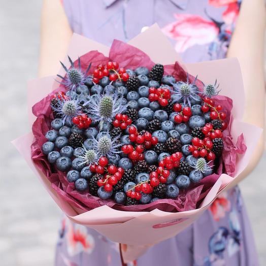 Черничная дымка: букеты цветов на заказ Flowwow