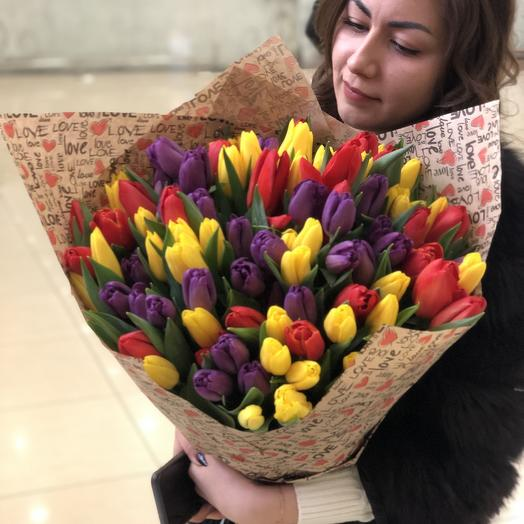 101 голландский тюльпан микс
