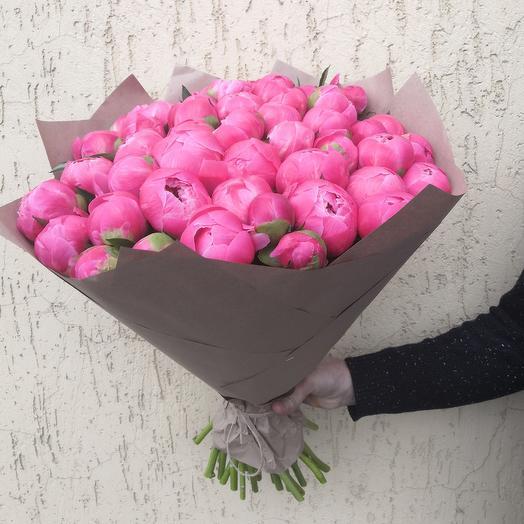 51 коралловый пион: букеты цветов на заказ Flowwow