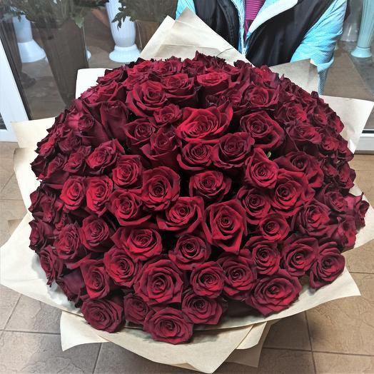 Букет из 101 розы эксплорер 70 см