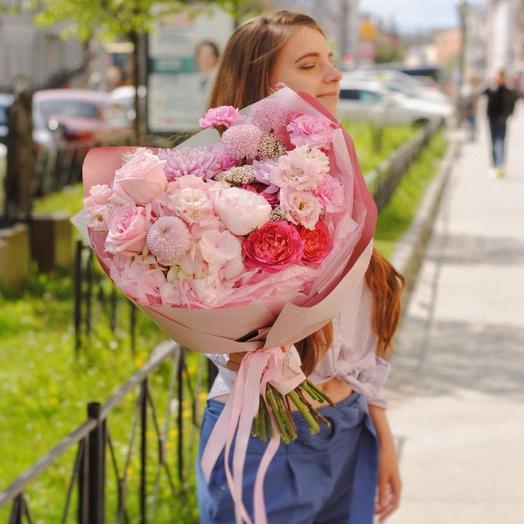 Букет «Розовые мечты», размер М