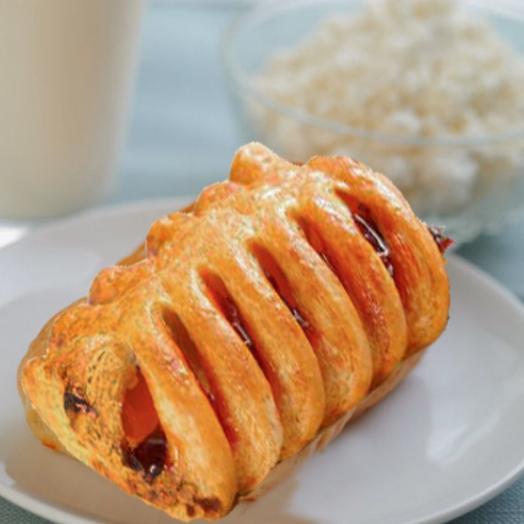 Гребешок с малиновой начинкой и сыром маскарпоне