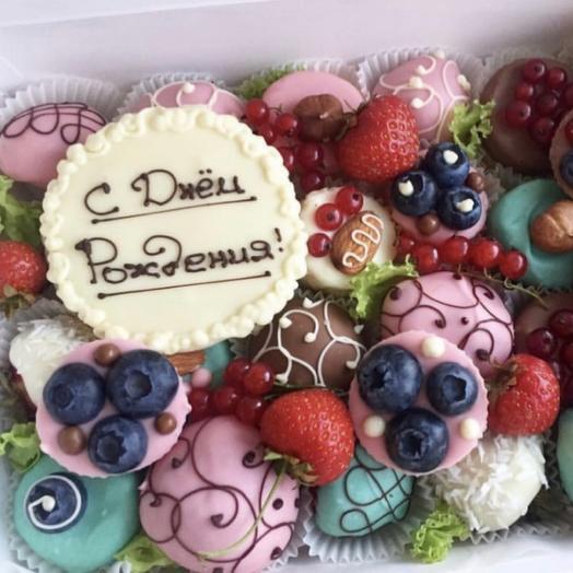 Фрукты в шоколаде «Сладкий день рождения»: букеты цветов на заказ Flowwow