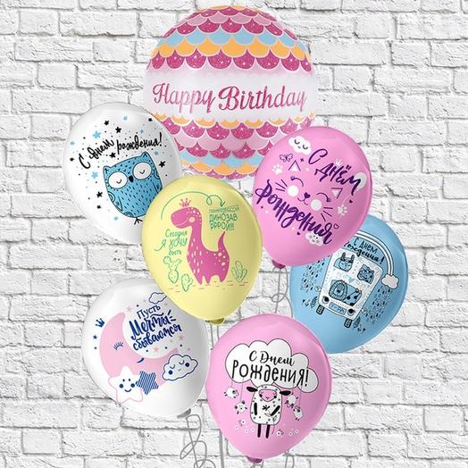 Набор из шаров Happy Birthday