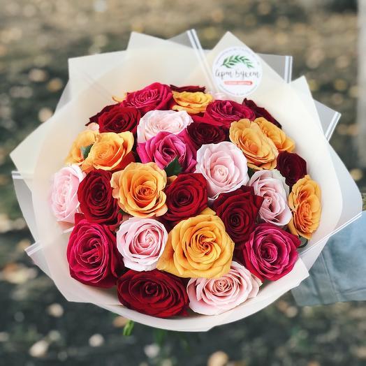 Микс из премиум роз