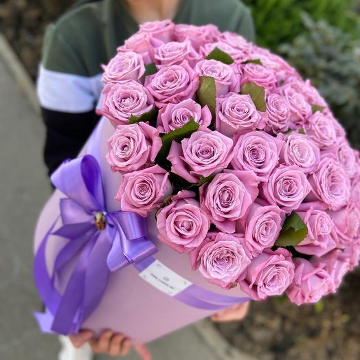 Коробочка XXL из 51 розы
