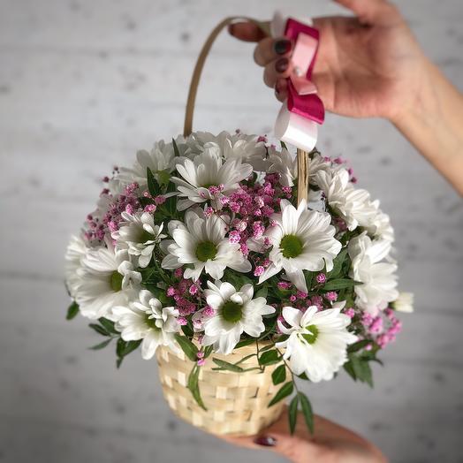Pink Daisy basket