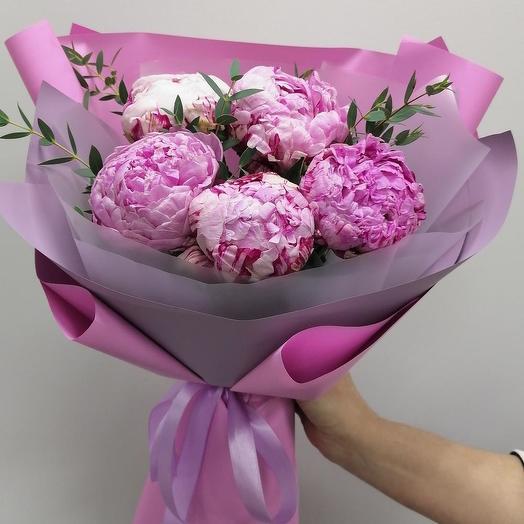 Bouquet of 5 peonies