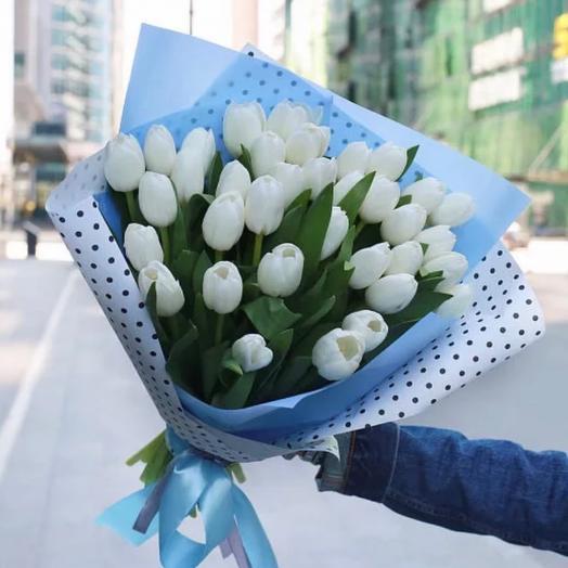 Тюльпаны 35 Шт Белые