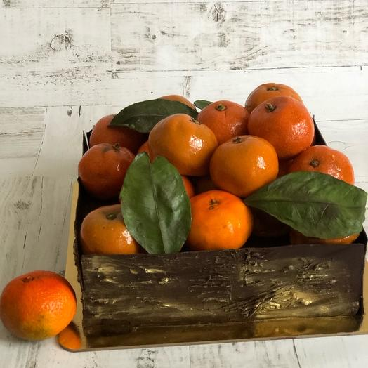 Торт «коробка с мандаринами»