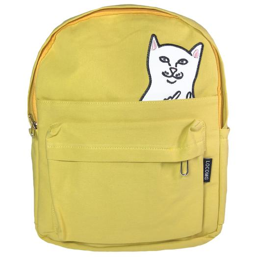 "Рюкзак ""Котик с факами"" желтый"