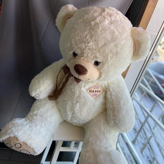 Большой белоснежный Медведь 100 см
