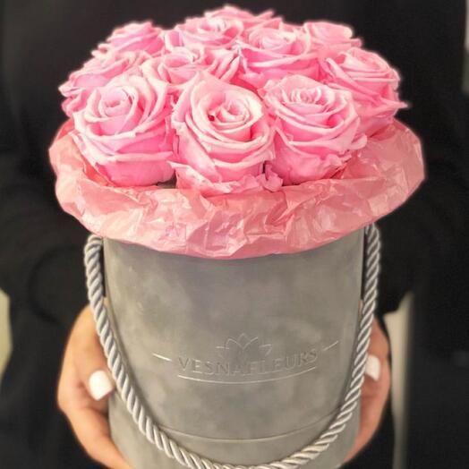 Коробка шляпная с розами