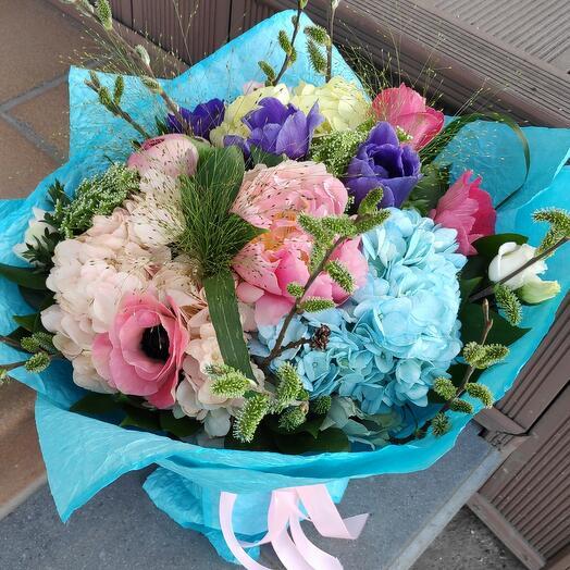 Букет цветов Семь цветов