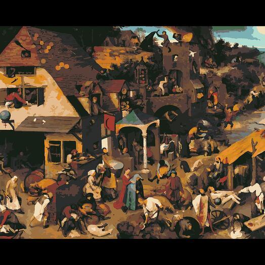 Картина по номерам Фламандские пословицы