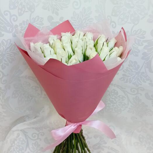Букет из 35 роз белых