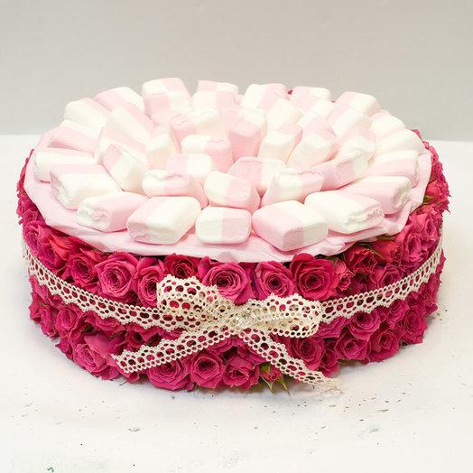 Цветочный торт Суфле