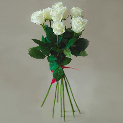 9 белых роз: букеты цветов на заказ Flowwow