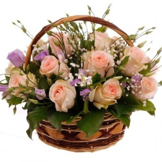 Корзина Лучиана: букеты цветов на заказ Flowwow